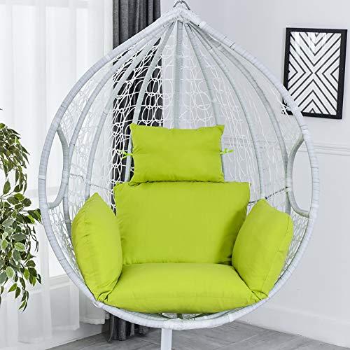 Opknoping mandje Stoelkussen, Egg Swing Chair Kussens Hangmat stoelkussens Dik Nest Terug Kussen voor Patio Yard Garden Beach Office (No voorzitter),Fruit green