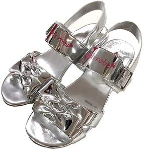[天使のドレス屋さん] キッズ サンダル シューズ 靴 夏 シルバー ヒール 可愛い エンジェルリボンサンダル YK0001