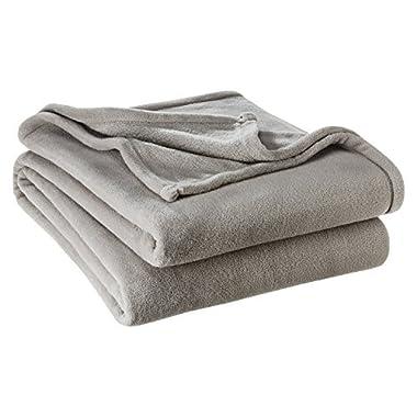 Ivy Union Ultra Soft Microplush Velvet Blanket - Luxurious Fuzzy Fleece Fur - All Season Premium Bed Blanket (King, Grey)