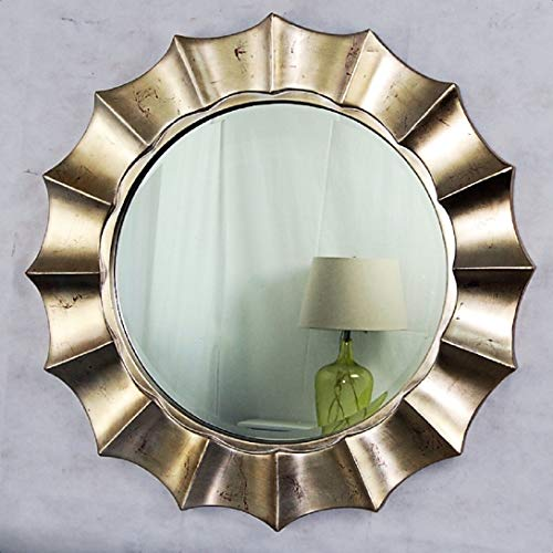 Pamella PU Beveled Wall Mirror, Best Suited for The Corners, Entrance, hallways, Living Rooms, bedrooms, and bathrooms etc, Stylish Home Decor Item for achieving The Perfect Vintage Look