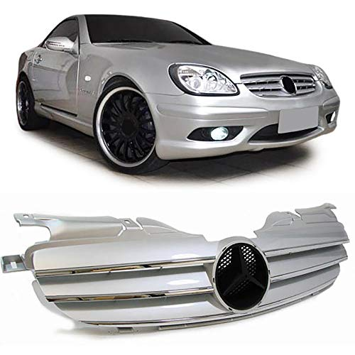 Carparts-Online 13817 Kühlergrill Grill Sport Optik Silber Chrom