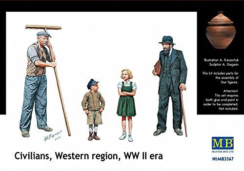 Masterbox 3567 Civilians WW2 Western Region 1:35 Plastic Kit Maquette