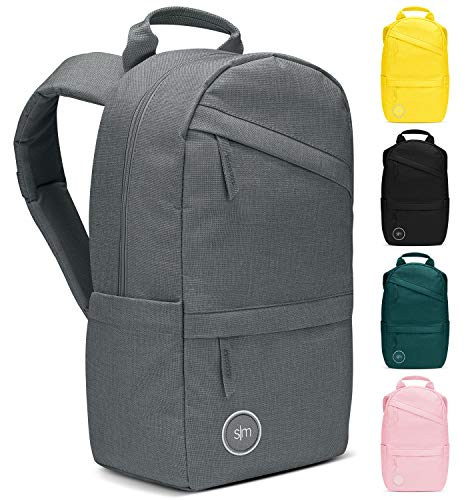 Simple Modern Wanderer 25L Backpack with Laptop Compartment Sleeve - Travel Bag for Men Women College Work School: Slate