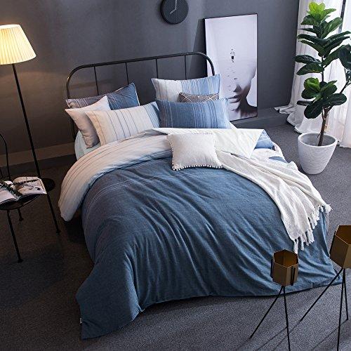 Merryfeel 100% Baumwolle Garn gefärbt Bettwäsche-Set - 155x220+80x80cm