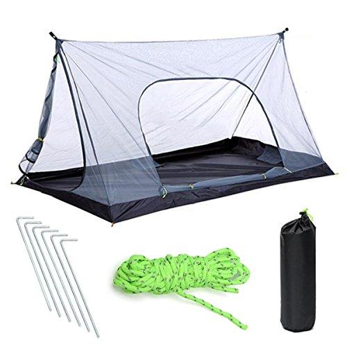 Slimerence Camping Leichtes Zelt, Mesh Camping Moskitonetz 1-2 Personen für Trekking, Camping, Outdoor, Großes Fest mit Kleinem Packmaß, Einfacher Aufbau A-förmigen Outdoor-Zelt ohne Halterung