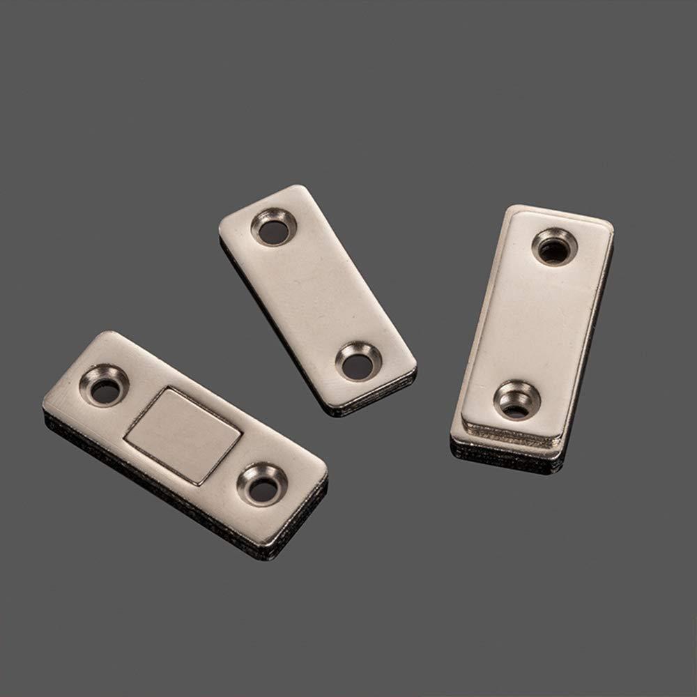 HWMATE Imanes de hierro ultrafinos para puerta de armario, cierre magnético, para puerta corredera, ventana, armario de cocina (4 unidades): Amazon.es: Bricolaje y herramientas