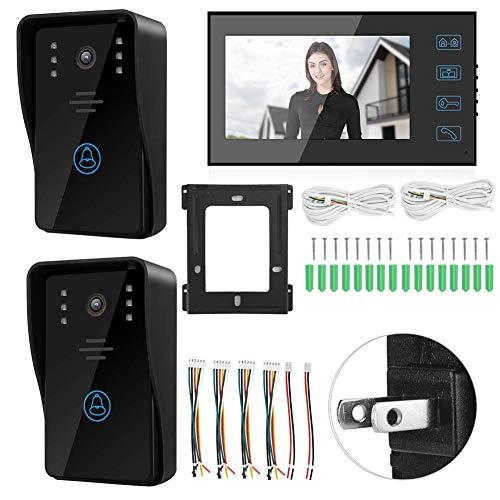 【𝐕𝐞𝐧𝐭𝐚 𝐑𝐞𝐠𝐚𝐥𝐨 𝐏𝐫𝐢𝐦𝐚𝒗𝐞𝐫𝐚】Timbre con cámara, teléfono con Sistema de 2 cámaras, Resistente al Agua para Apartamentos, Seguridad, Edificios(U.S. regulations)