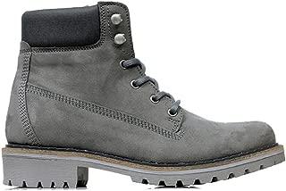 Will's Vegan Shoes Mens Dock Boots Grey Vegan Suede
