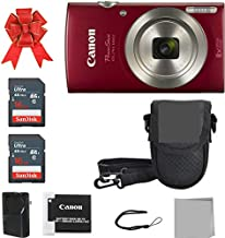 Canon PowerShot ELPH 180 Digital Camera + 2X 16GB Memory Card + A Premium Camera Case (Red)