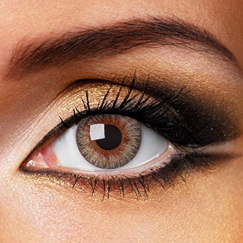Fashionlens kleurlenzen - Clear Grey - jaarlenzen inclusief lenzendoosje - grijze zachte contactlenzen
