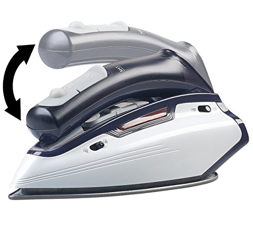 Sichler Haushaltsgeräte Reisebügeleisen: 2in1-Reise-Dampfbügeleisen mit klappbarem Griff, 1.150 W, 110/230 Volt (Dampfglätter)