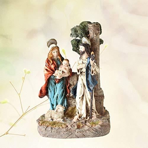 JWWOZ Pesebre Natividad Figuras Religiosas, Adornos Fondo De Escritorio De Navidad Escena Estable De La Carta Natal