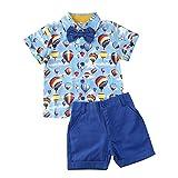 Ropa Niño Conjuntos Verano 2 Piezas Camisa Estampado Animales + Pantalón Color Liso Corto para Chico Disponible de 1-6 Años Casual, Fiesta, Vacaciones