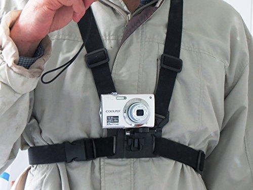 Pecho Designo arnés para cámaras digitales para Correa para usar como cámaras de acción Universal adecuado para Canon Nikon Sony Samsung Olympus Vivitar dvr783hd excosports 4GEE