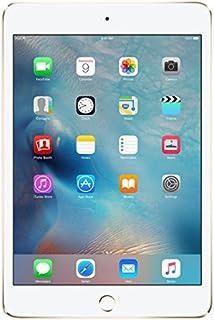 Apple iPad Mini 4 64GB Gold - Tablets (Mini Tablet, iOS, Slate, iOS, Gold, Lithium Polymer (LiPo)) (Renewed)