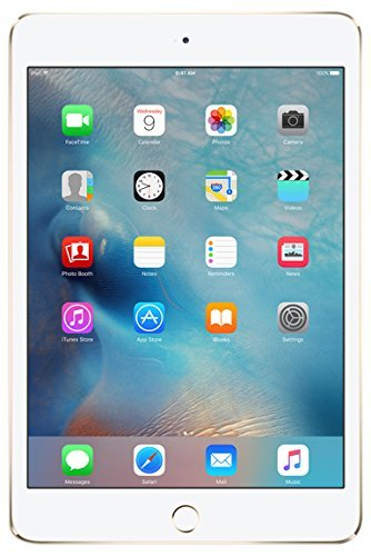Apple iPad Mini 4 64GB Gold - Tablets (Mini Tablet, iOS, Slate, iOS, Gold, Lithium Polymer (LiPo)) (Renewed)