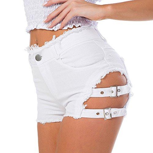 Neue Sommer sexy Nachtclub Nacht tragen Frauen hoch taillierte Jeansshorts Brief Jeans Zeigen dünne Löcher