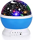 Night Light for Kids, Fortally Kids Night Light, Star Night Light, Nebula Star Projector 360 Degree Rotation - 4 LED Bulbs 12 Light Color Changing with USB Cable, Romantic Gifts for Men Women Children