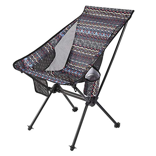 Chair Fancy Folding Portable Leisure Outdoor Camping Beach Balcony Deck (Color : B)