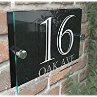 Contemporary House Sign Plaque Number