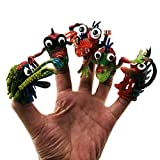 Schimers Bad Fingerpuppen, Monster Finger Cool für Kinder Große Party begünstigt Fun Toys Puppenspiel, Tierfingerpuppen
