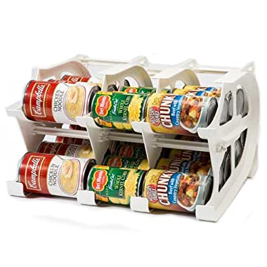 Mini Can Tracker by FIFO | Stores 30 Cans | Rotates First in First Out | Designed for Cupboard, Pantry and Cabinet Organization | Organize your Kitchen | Made in USA
