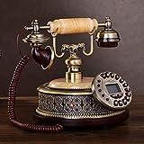 SXRDZ Cerámica de teléfono de Estilo Retro, [Retro], teléfono [Negro], [Classic], Wired-Un Adorno de decoración de Escritorio para el hogar