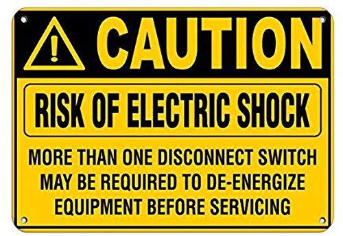 Precaución Riesgo de descarga eléctrica Más de una desconexión Cartel de pared...
