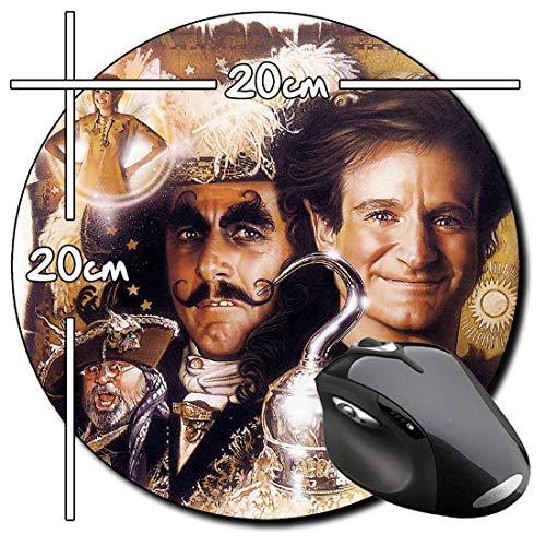 Hook Peter Pan Robin Williams Dustin Hoffman Alfombrilla Redonda Round Mousepad PC