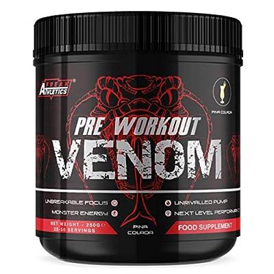 Pre Workout Venom 'Pina Colada' - Pump Pre Workout Supplement by Freak Athletics - Elite Level Pre Workout Supplement - Pre Workout Powder Made in The UK - Available in Pina Colada