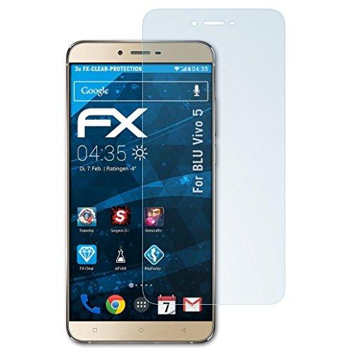 atFolix Schutzfolie kompatibel mit BLU Vivo 5 Folie, ultraklare FX Bildschirmschutzfolie (3X)