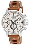Invicta Men's S1 Rally 48mm Stainless Steel and Brown Leather Chronograph QuartzWatch, Brown (Model: 16009)