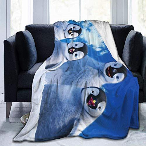 Lsjuee Happy Feet Manta de Franela de Microfibra Mantas de Tiro Super Suave Fuzzy Luxury Adecuado para Cama, sofá, Viaje, Four Seasons, Manta de 50 x 40 Pulgadas