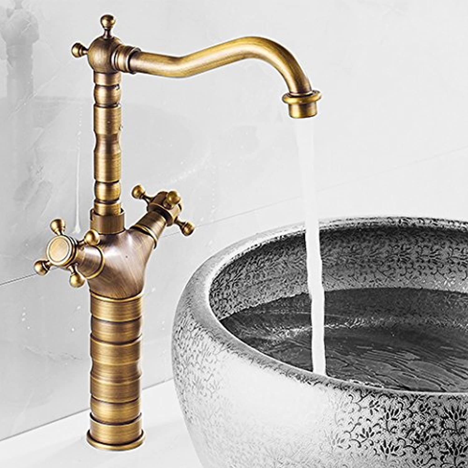 Hlluya Professional Sink Mixer Tap Kitchen Faucet Sink, hot and cold, full of copper, Single Hole, sink faucet,38.5  20cm