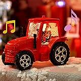 "Christmas Snow Globes, Musical Glitter Santa Snow Globe Big Size Truck Car, Christmas Battery Operated Snow Globe Lantern Water Warm Lights 9.4"" (Truck)"
