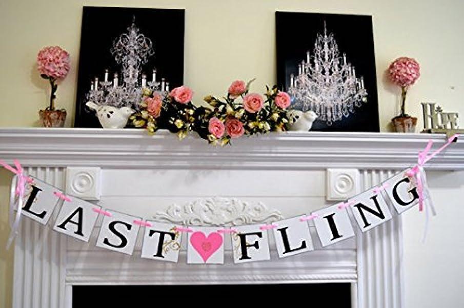 Last Fling Banner, Bridal Shower decorations, Bridal shower banner, Engaged Banner, Wedding Sign, Photo Prop