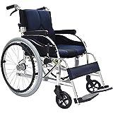 XQY Medizinischer Rehabilitationsstuhl, Rollstuhl, Rollstühle 13.6Kg Leichter Faltbarer Rollstuhl Ergonomische Bequeme Armlehnen-Hebebein 100Kg Tragkraft 40 * 42Cm Sitzbreite Manueller Rollstuhl, Bla -