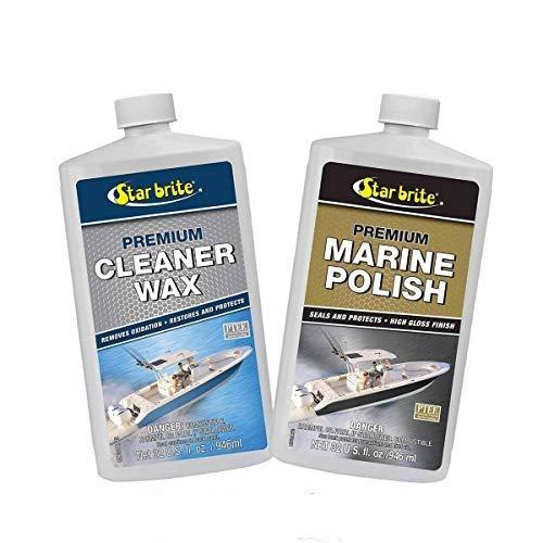 Star Brite Premium Cleaner Wax & Marine Polish w/PTEF Combo Deal 85732 89632