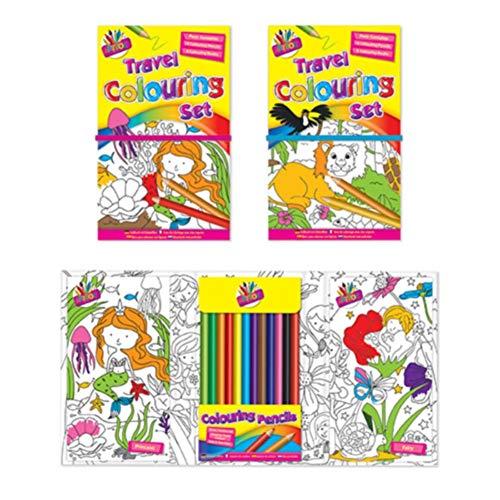 Tallon Los niños Conjunto de Libro para Colorear de Viaje con 12lápices de Colores x 1Libro