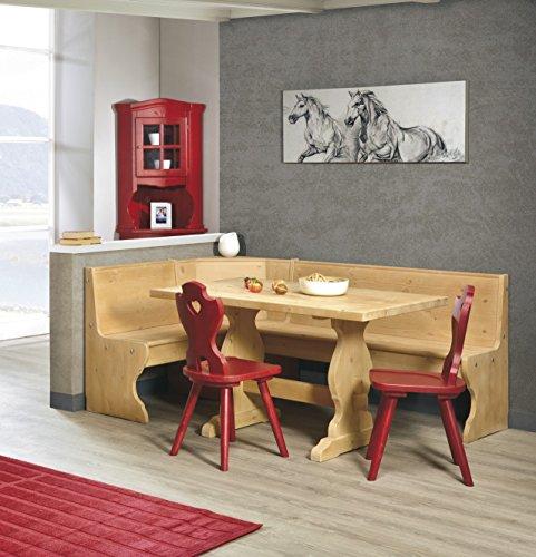 Eckbank Eckbankgruppe Bank Esstisch 2 Stühle Kiefer massiv - Farbe natura