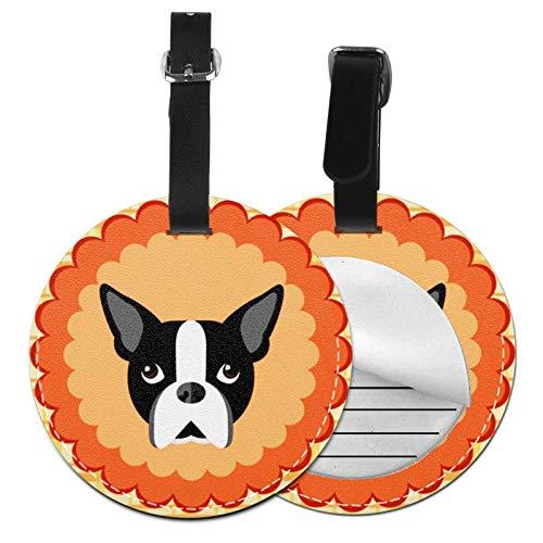 Etiquetas para Equipaje Bolso ID Tag Viaje Bolso De La Maleta Identifier Las Etiquetas Maletas Viaje Luggage ID Tag para Maletas Equipaje Cachorro Boston Dog