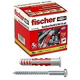 fischer DuoSeal 8 x 48 S, Universaldübel für Nassbereiche (25 Stk.) mit Schrauben, leistungsstarke 2-Komponenten-Dübel, abdichtender Kunststoffdübel zur Befestigung in Feuchträumen
