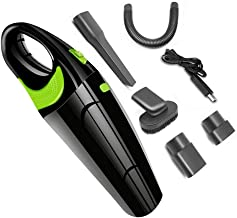 Mini Car Vacuum Cleaner, Handheld Vacuums Cordless USB Charger Wet Dry Strong Cyclone Suction Lightweight Portable Auto Mi...