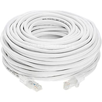 Konnekta Cable Cat5e White Ethernet Patch Cable Snagless//Molded Boot 5 Foot Pack of 10