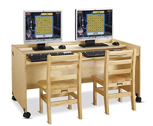 Jonti-Craft 3488JC Enterprise Double Computer Desk, Gold, Full