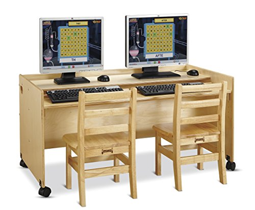 Jonti-Craft 3488JC Enterprise Double Computer Desk, Gold, Full