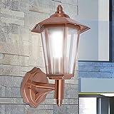 SKM Lanterna da Parete per Esterno in Acciaio Inox Color Rame