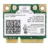 Mini pcie Wifi Card Dual Band Wireless AC 7260 PCI Express Network Card 802.11ac 2x2 Wi-Fi 7260hmw Bluetooth 4.0 Half Wifi Card for Laptop Desktop Intel NUC Window 7 8 8.1 10 Linux 2.4.x/2.6.x & later