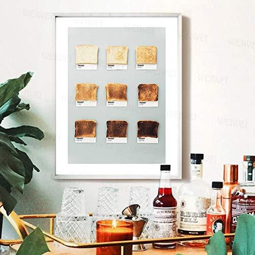 HD-Drucke Home Decoration Leinwand Toast Bilder Wandkunst Gemälde Moderne nordische Stil modulare Poster für die...