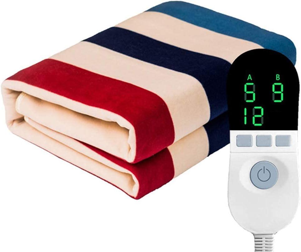 CDPC Manta eléctrica Fontanería 8-Velocidad de Ajuste eléctrico Dual de Control de Tiempo 8h automático de Apagado Protección Radiológica Inicio de dormitorios, de 200 * 180cm